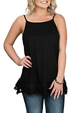 Grace & Emma Women's Black Slip Tunic Fashion Shirt
