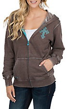 Cowgirl Hardware Women's Brown Cross Jacket