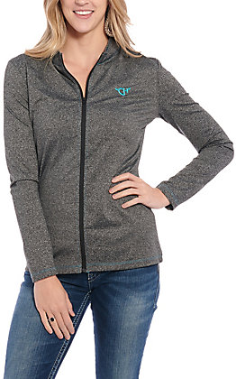 Cowgirl Hardware Women's Charcoal Zip Up Jacket