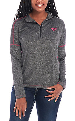 Cowgirl Hardware Women's Heathered Black Knit Pullover