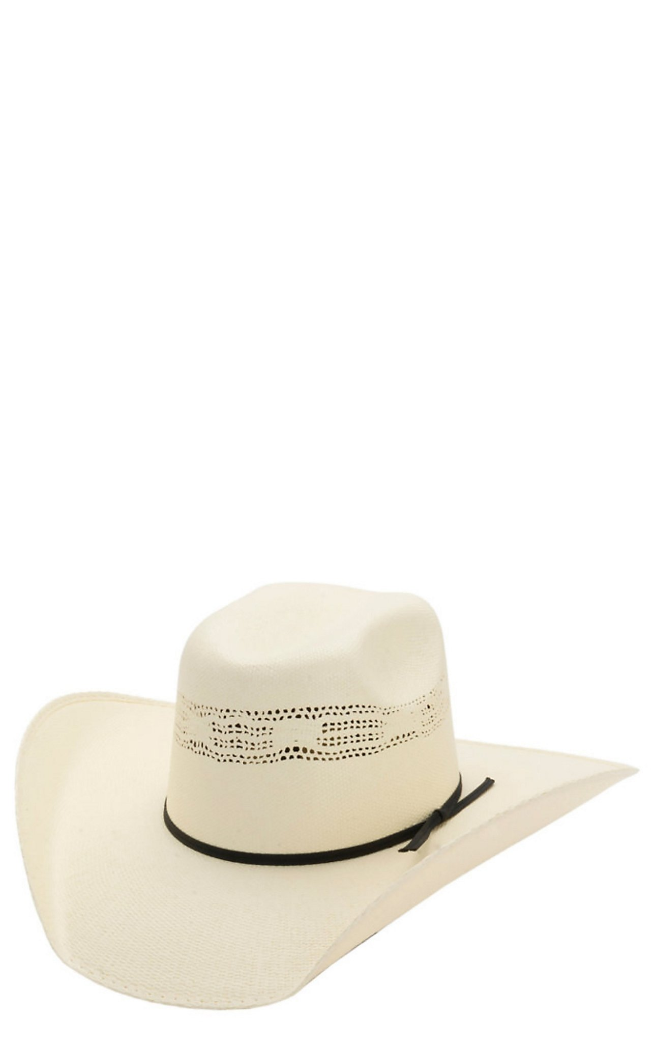 Cavenders 10X Natural Bangora Vented Crown Straw Cowboy Hat 27BREP425  57d0106a8598
