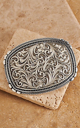 Montana Silversmiths Antiqued Pinpoints and Twisted Rope Trim Buckle