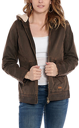Outback Trading Co. Women's Brown Heidid Canyonland Quilted Hooded Jacket