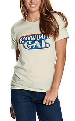Benita Ceceille Women's Concrete Cowboy Gal Graphic Short Sleeve T-Shirt