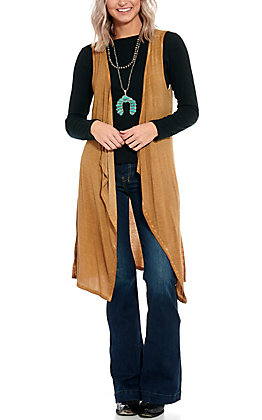 Cowgirl Hardware Women's Brown Long Vest