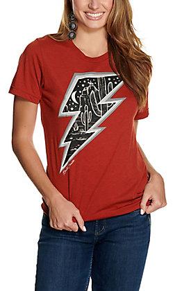 Benita Ceceille Women's Rust Desert Storm Graphic Short Sleeve T-Shirt