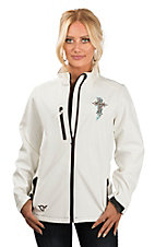 Cowgirl Hardware Women's Cream Zebra Cross Polyshell Jacket