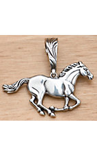 M&F Western Silver Horse Pendant