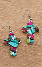 M&F Products Multi Color Stone Earrings