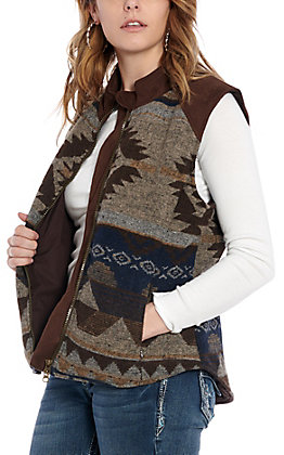 Outback Trading Co. Women's Chocolate Maybelle Aztec Vest