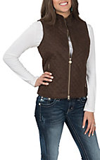 Outback Trading Company Women's Wilona Brown Tooled Vest