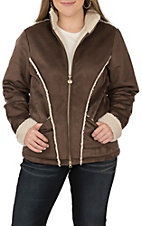 Outback Trading Company Brown Faux Suede Fleece Lined Jacket
