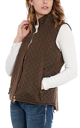 Outback Trading Co. Women's Brisbane Brown Quilted Vest