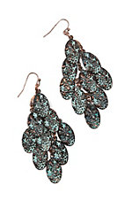 Blazin Roxx Turquoise Patina Dangle Earrings