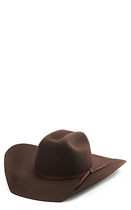 Cavender's 2X Ranch Collection Dark Brown Wool Felt Cowboy Hat