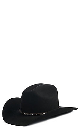 Justin Youth 2X Black Felt Cowboy Hat