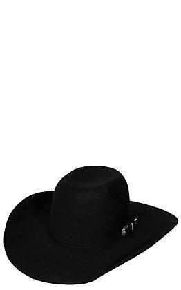 Texas Hat Company Kids 2X Black Punchy CHL Crown Felt Cowboy Hat