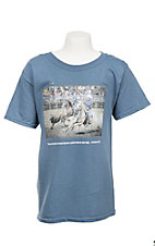 Cavender's Two Are Better Than One with Calf Ropers Screen Print Blue Short Sleeve T-Shirt