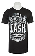 Cash Men's Black Johnny Cash Live At Folsom Short Sleeve T-Shirt
