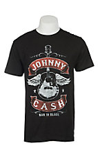 Cash Men's Johnny Cash Winged Guitar T-Shirt