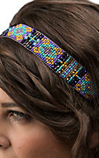 Blazin Roxx Purple Southwest Beaded Headband 30098