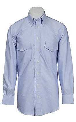 Gitman Bros. Men's Blue Long Sleeve Button Down Oxford
