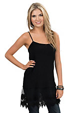Origami Women's Black Lace Trim Camisole