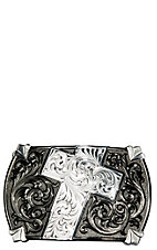 Montana Silversmiths Gunmetal Walk of Faith Buckle