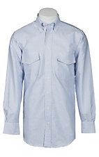 Gitman Bros. Men's Blue & White Stripe L/S Button Down Oxford