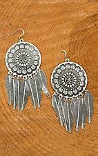 Blazin Roxx Silver Dream Catcher Earring