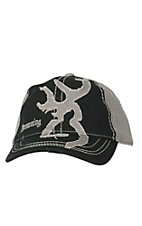 Browning Buckmark Black & Grey Patch Logo Cap 308014991