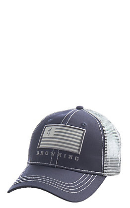 Browning Patriot Slate Grey Flag Patch Cap