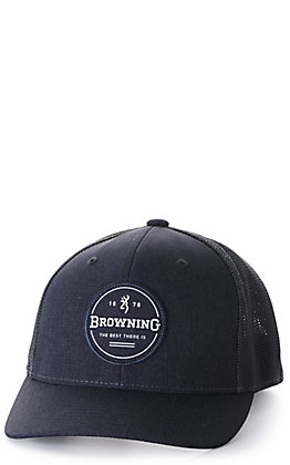 Browning Slate Grey with Circle Logo Patch Cap