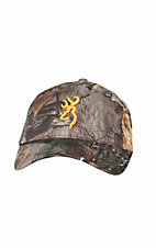 Browning Camo with Orange Logo Mesh Velcro Back Cap