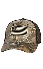 Browning Patriot RTX Camo Flag Snap Back Cap