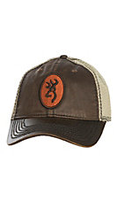 Browning Cody Brown Mesh Embroidered Logo Patch Velcro Back Cap