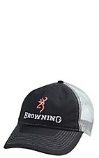 Browning Men's Black and Grey Ringer Mesh Snapback Cap