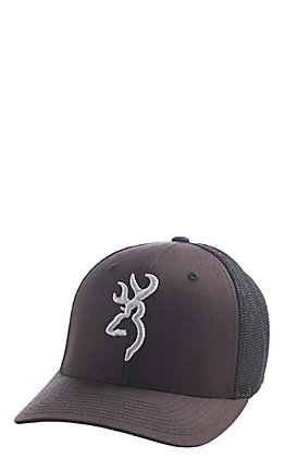 Browning Brown Branded Flex Logo Fitted Mesh Back Cap - L/XL