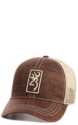 Browning Saltwood Brown with Khaki Mesh Logo Cap