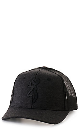 Browning Heather Black Rubberized Black Logo Cap