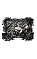 Montana Silversmiths Gunmetal Scalloped Point w/ Ranch Rodeo Buckle