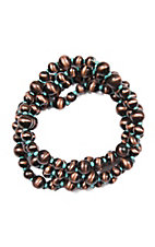 Blazin Roxx Copper and Turquoise 5 Strand Beaded Bracelets