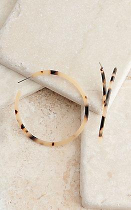 Blazin Roxx Leopard Print Hoop Earrings