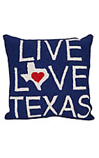 Peking Handicraft Live, Love, Texas Throw Pillow