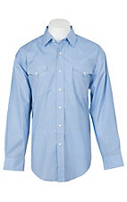 Panhandle Men's Light Blue Dot Circle Print L/S Cavender's Exclusive Western Snap Shirt