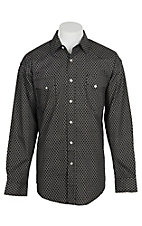 Panhandle Men's Black Geo Print L/S Cavender's Exclusive Western Snap Shirt