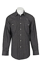 Panhandle Men's Black Medallion Print L/S Cavender's Exclusive Western Snap Shirt