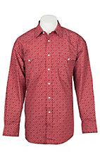 Panhandle Men's Red Bandanna Print Long Sleeve Western Shirt