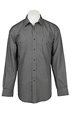 Panhandle Men's Grey Mini Print Long Sleeve Western Shirt