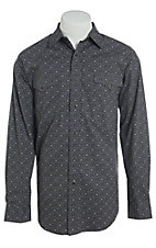 Panhandle Men's Cavender's Exclusive Black Print Long Sleeve Western Shirt